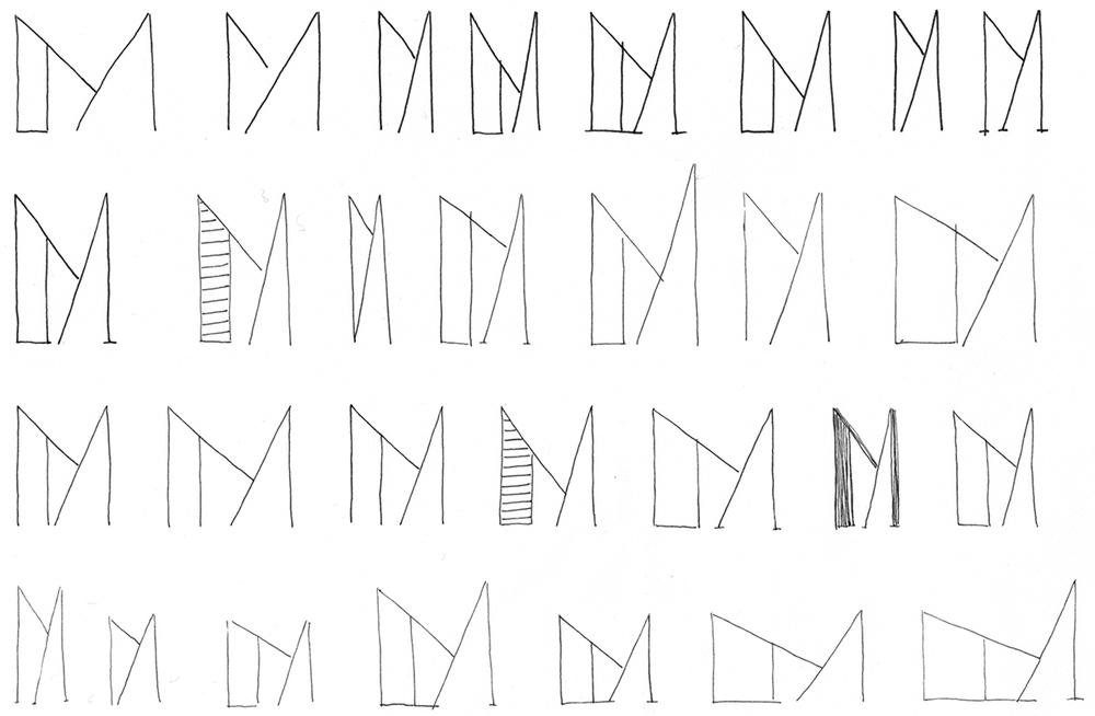 January 14:   Monday morning meeting doodles .