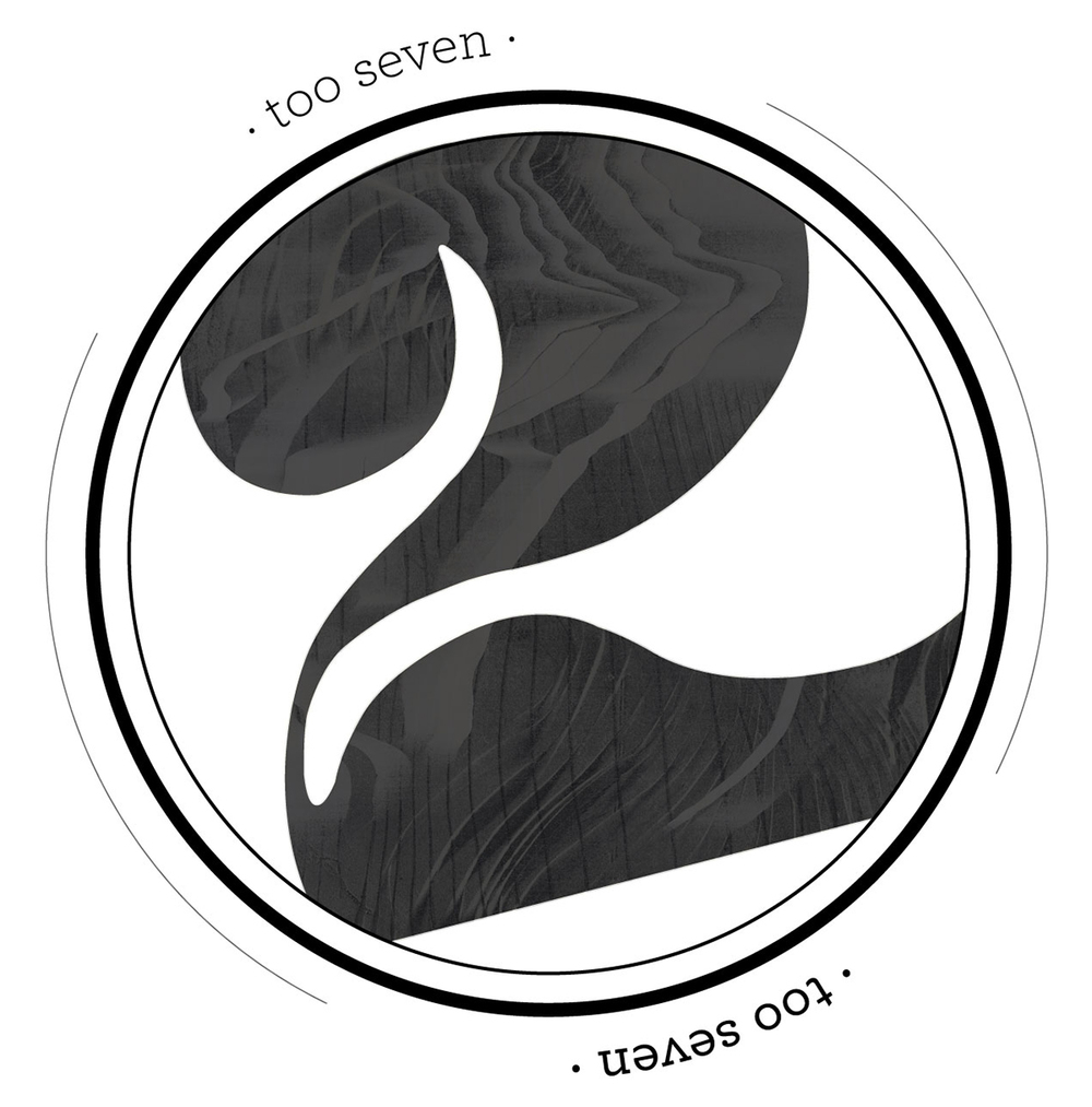 January 30:   A few tweaks to my 'too seven' logo, soon it will be applied to the brand components.