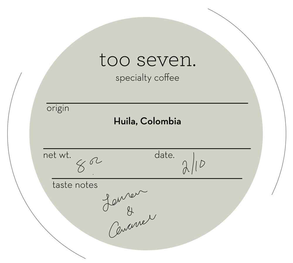 February 10:   Coffee bag label.