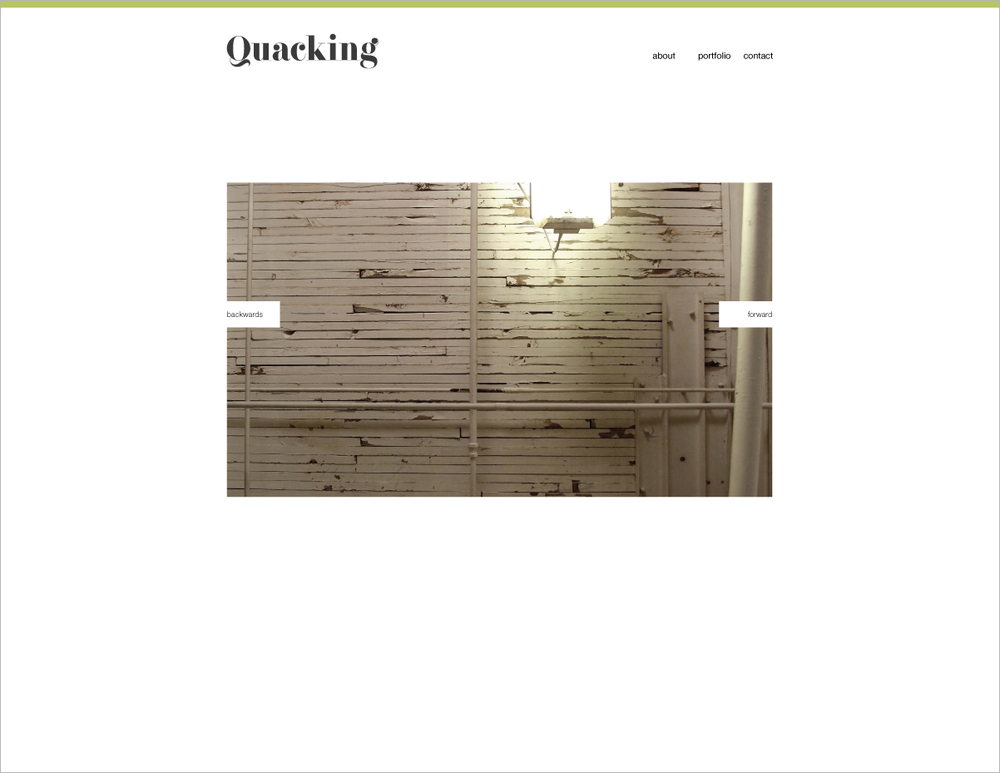 March 2: Playing around with an idea for a website layout.
