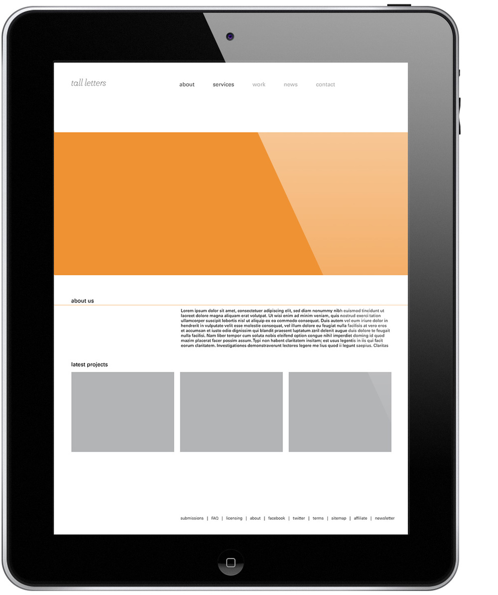 March 10: Web layouts and how they translate on tablets.