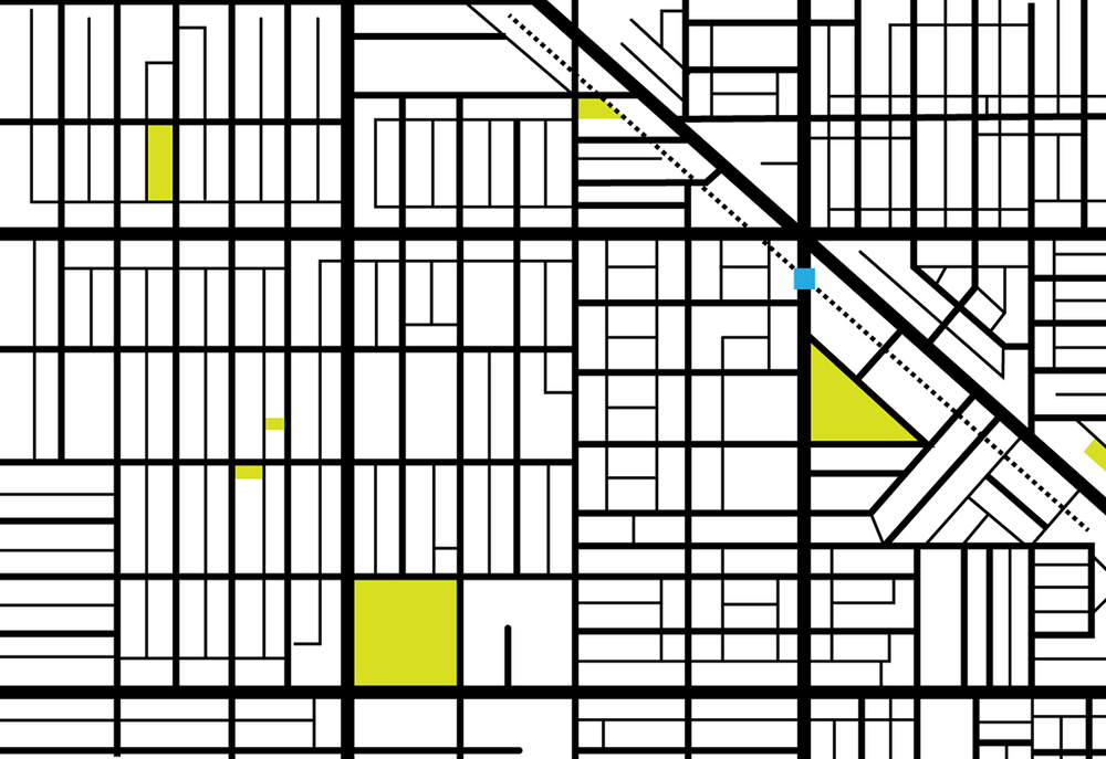 March 18: Linear map of Wicker Park.