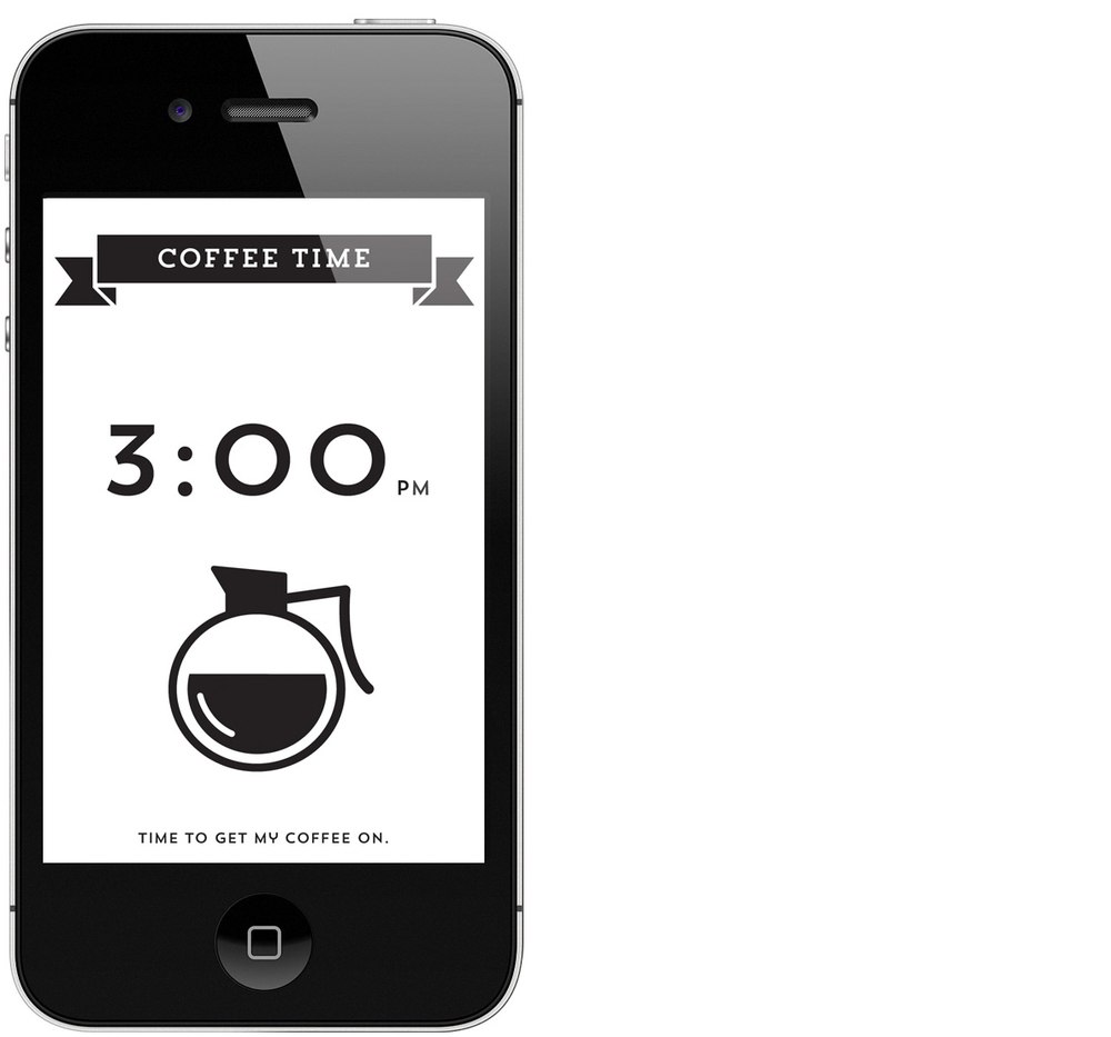 April 2:   Idea for a countdown to coffee time app. (April 1 was included in March's group as it went along with the website project I was working on at the end of the month.)