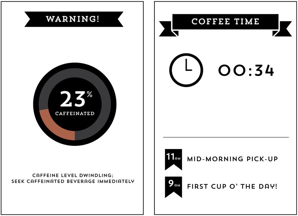 April 3: Some more ideas for my coffee countdown app.