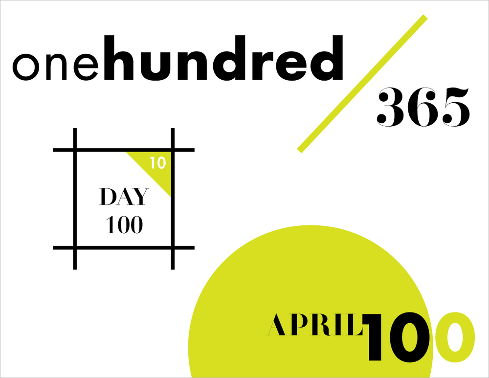 April 10:   100 days, 100 designs. Givin' myself a high-five.