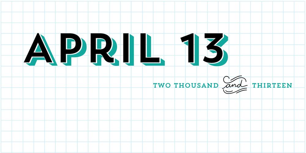 April 13:   Trend-y