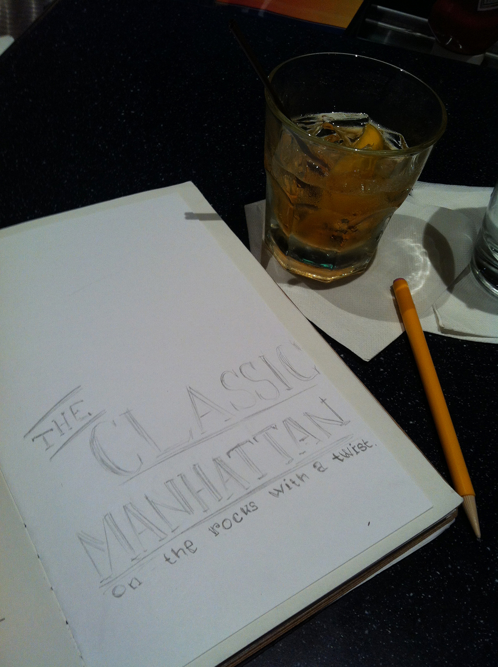 May 23: Doodling at the airport bar. Heading back to Mass for a long weekend.