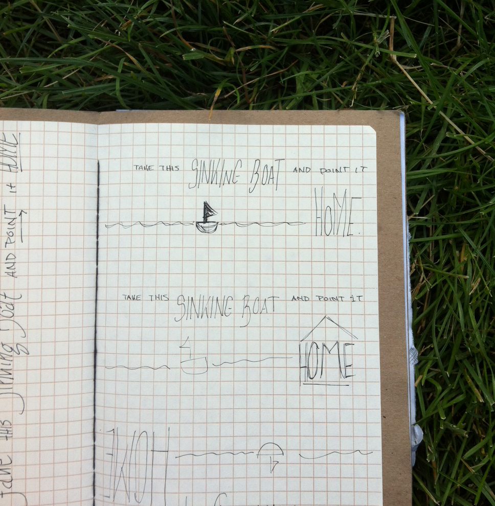 June 10:   Saw Glen Hansard and Lisa Hannigan at the free Millennium Park concert series, Downtown Sound; it was awesome. I did these little doodles while singing and basking in the sun.