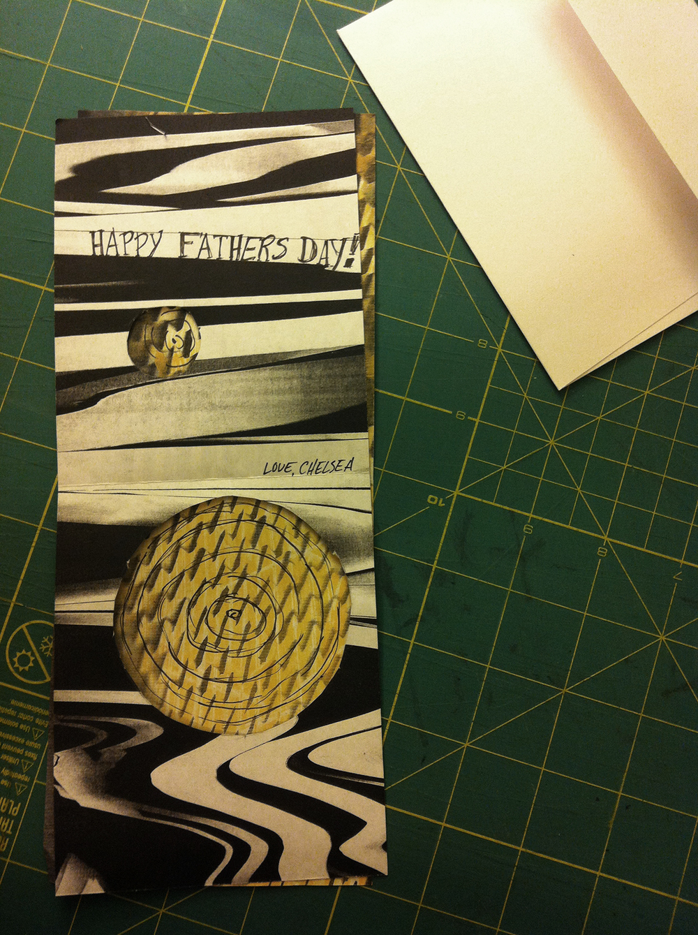 June 14: Bad lettering, but dad won't mind. Happy almost Father's Day!