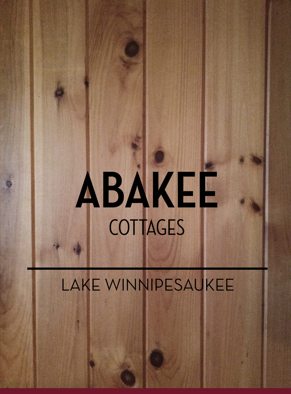 July 8: Thinking about a logo for Abakee Cottages.