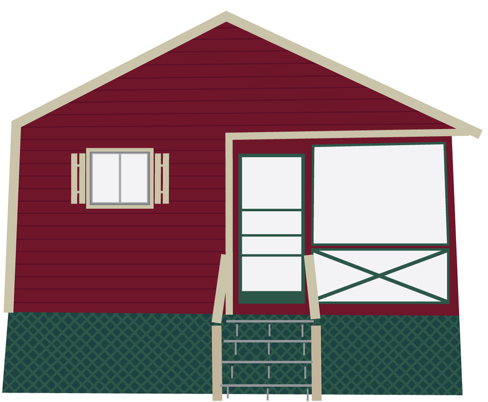 July 11: A more accurate vector version of our cabin.
