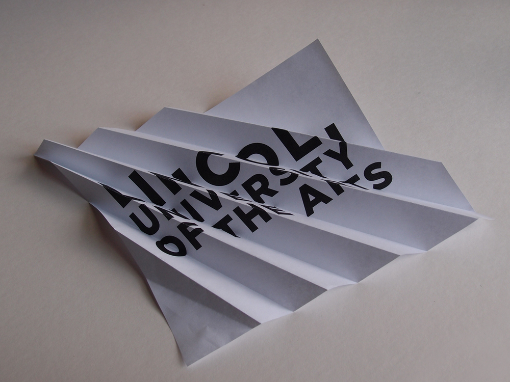 October 23:   Playing around with folded paper/folded typography some more. I'd like to extract the letterforms and see how they hold up alone.