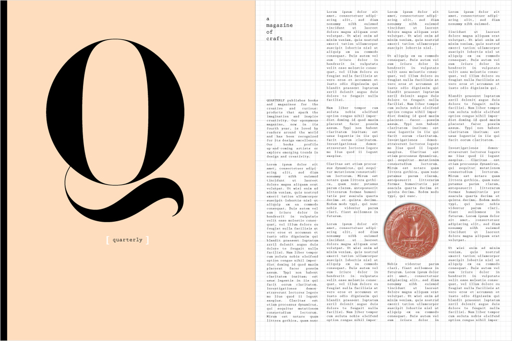 November 9:   I wanted to find a way to incorporate my favorite 'Q' and yesterday's painted quarter into a design and this emerged.