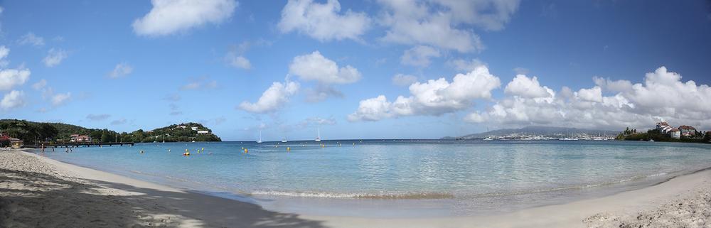 We found a locals beach on Anse Chaudière. - 11/13/13