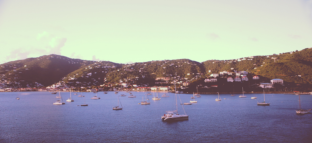 Pulling into St. Thomas for our first stop. Here we got off and did some drinking while exploring the shops. - 11/10/13