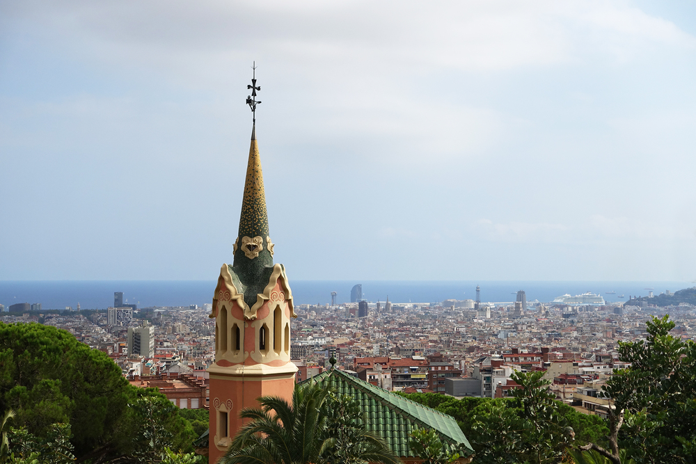 View from the top of Park Güell - Barcelona, Spain