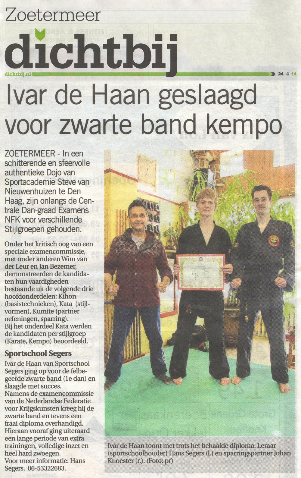 2014-04-24 Dichtbij Ivar de Haan Geslaagd voor Zwarte Band Kempo.jpg