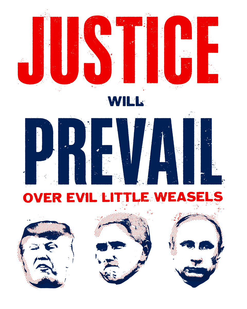 """Evil Little Weasels"" Women's March Poster"