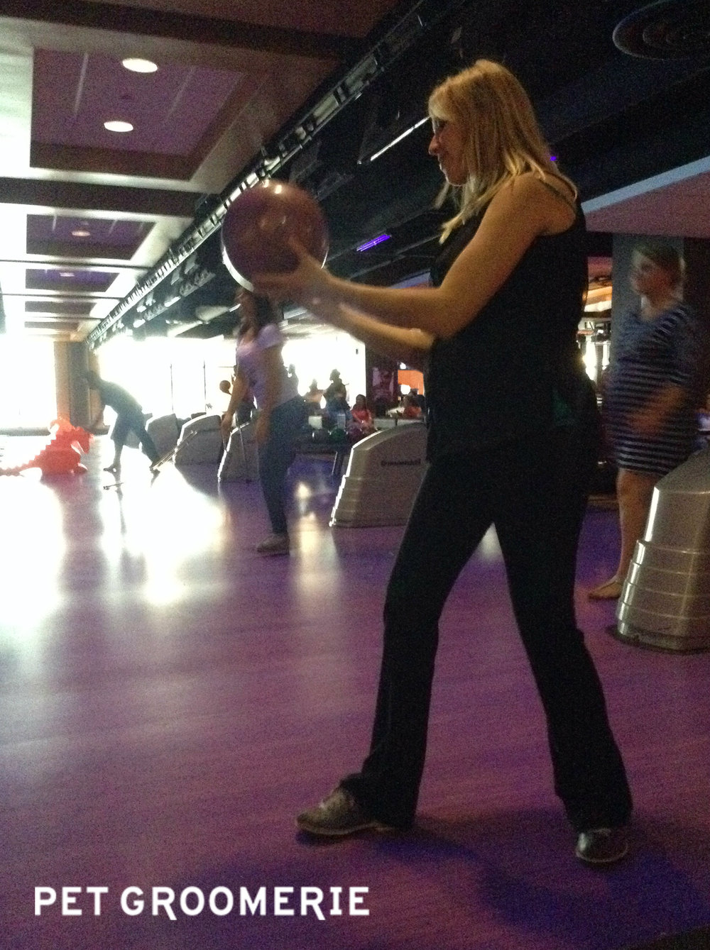 Bowling ball in the belly, bowling ball in the hand.