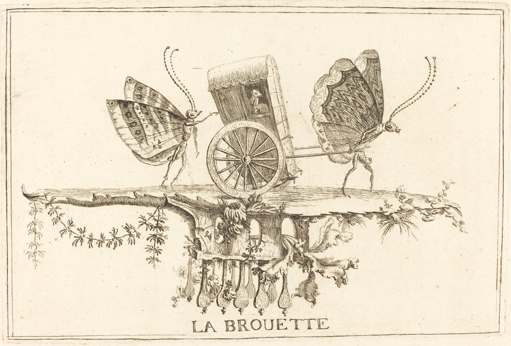 1756 Charles Germain de Saint-Aubin (French, 1721 - 1786 ), La Brouette, in or after 1756, etching,