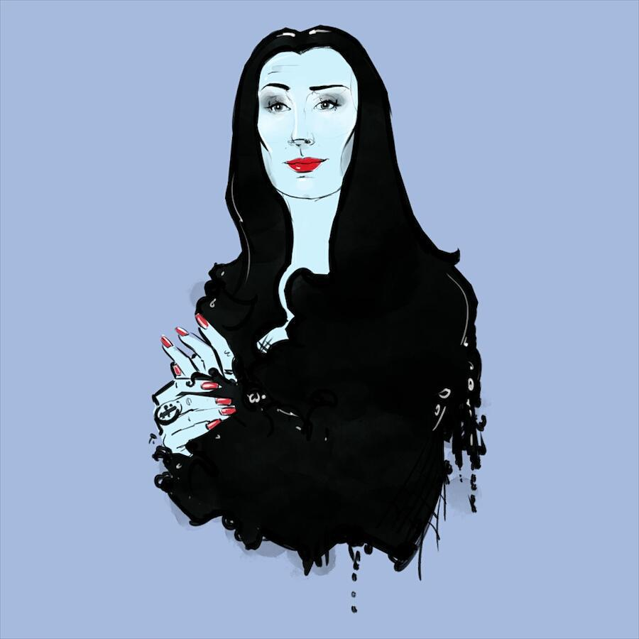 Pastels? #illustration #drawing #art #egorodriguez #morticia #addamsfamily #pastels #instaart #anjelicahuston