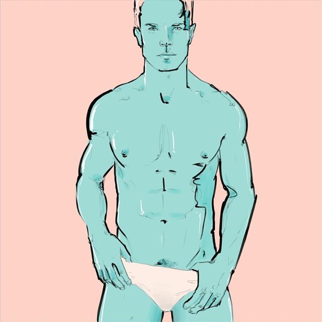 Shout out to NY, to my talented buddy @kimdavidsmith #portrait #illustration #drawing #malebody #kimdavidsmith #egorodriguez #art #instaart #pastel #underwear #blue #instasketch #ink