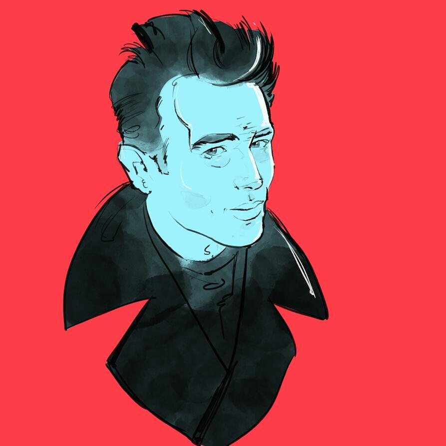 Dean #illustration #art_empire #art #portrait #jamesdean #egorodriguez #instaart #red #hollywood #classic