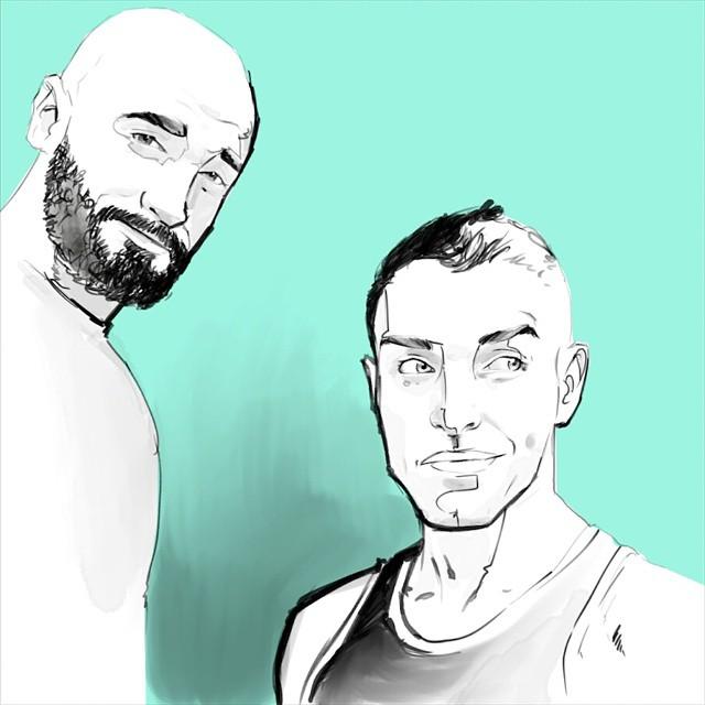 These two @kindasupermario @mikey_doon #egorodriguez #egorodriguezillustration #illustration #drawing #art #instaart #instagood #instasketch #digitalart #egofied #couple #gayart