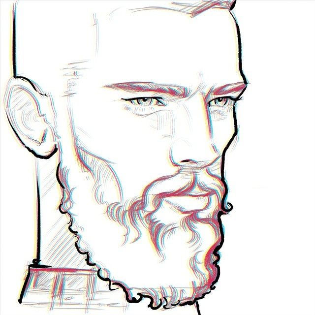 Sean #doodle #beard #model #egorodriguez #face #portrait #illustrator #illustration #drawing #eyes #sketch #instasketch #instaart #art