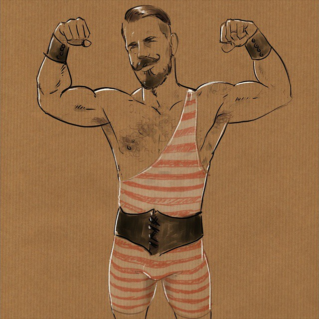 Friday doodle dedicated to Eli @mr_kid #instasketch #instaart #blackfriday #beard #strong #muscle #egofied #art #egorodriguez #illustration #drawing #circus #artist #sketch