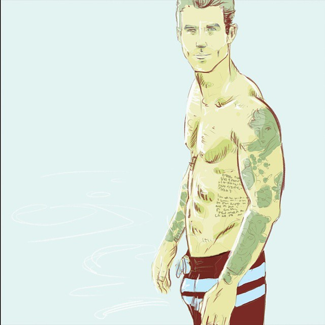 Today's sketching exercise thanks to @andrehamann #instaart #instasketch #andrehamann #egofied #egorodriguez #swim #water #sketch #drawing #art #illustration #tattoo