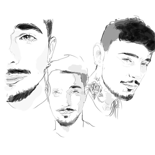Doodle from the vault @luketearknee #sketch #drawing #draft #egofied #egorodriguez #line #instasketch #instaart #illustration #throwback #portrait