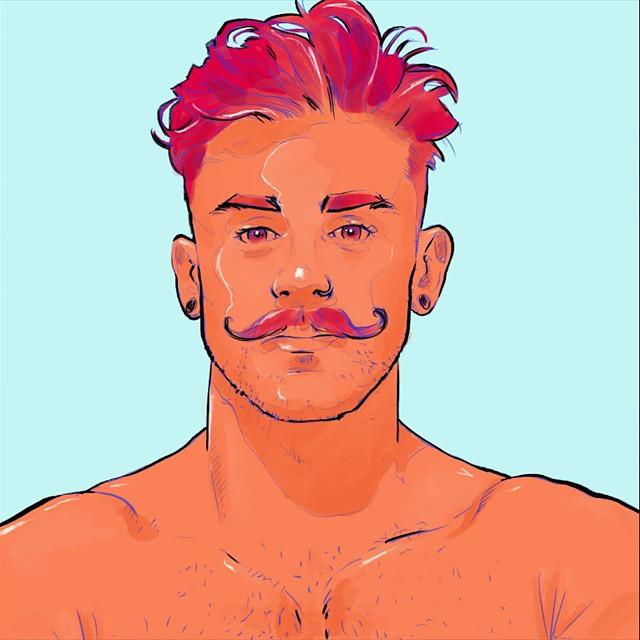 Nathan #isnathanart #bangarangblog #illustration #egofied #portrait #tache #drawing #egorodriguez #piercing #instaart #model #isnathan