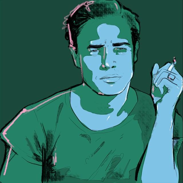 Sketching Brando #drawing #portrait #egofied #instaart #illustration #egorodriguez #Marlon #Brando #sketch #art #portrait