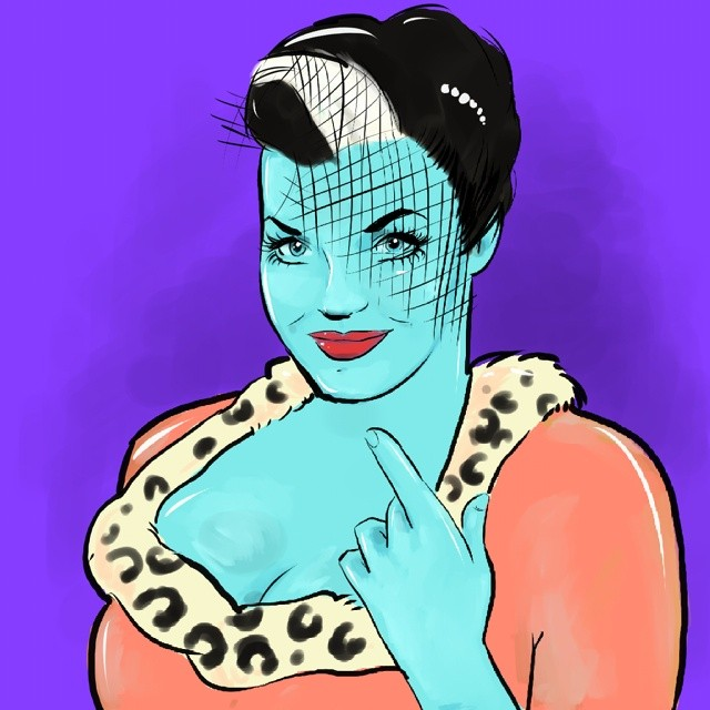 Having a break from beards this is one of my most glamourous followers, the gorgeous @oliviargolden #egofied #artattack #egorodriguez #art #illustration #pinup #lipstick #glamour #beauty #portrait
