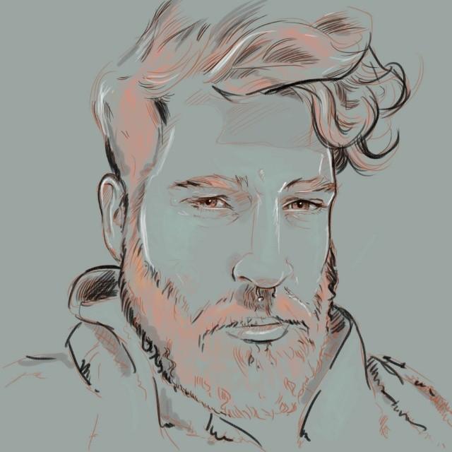 Quick study of @reydelbosque #Friday #sketch #egofied #portrait #drawing #artattack #beard #instabeard #pencil #Ego