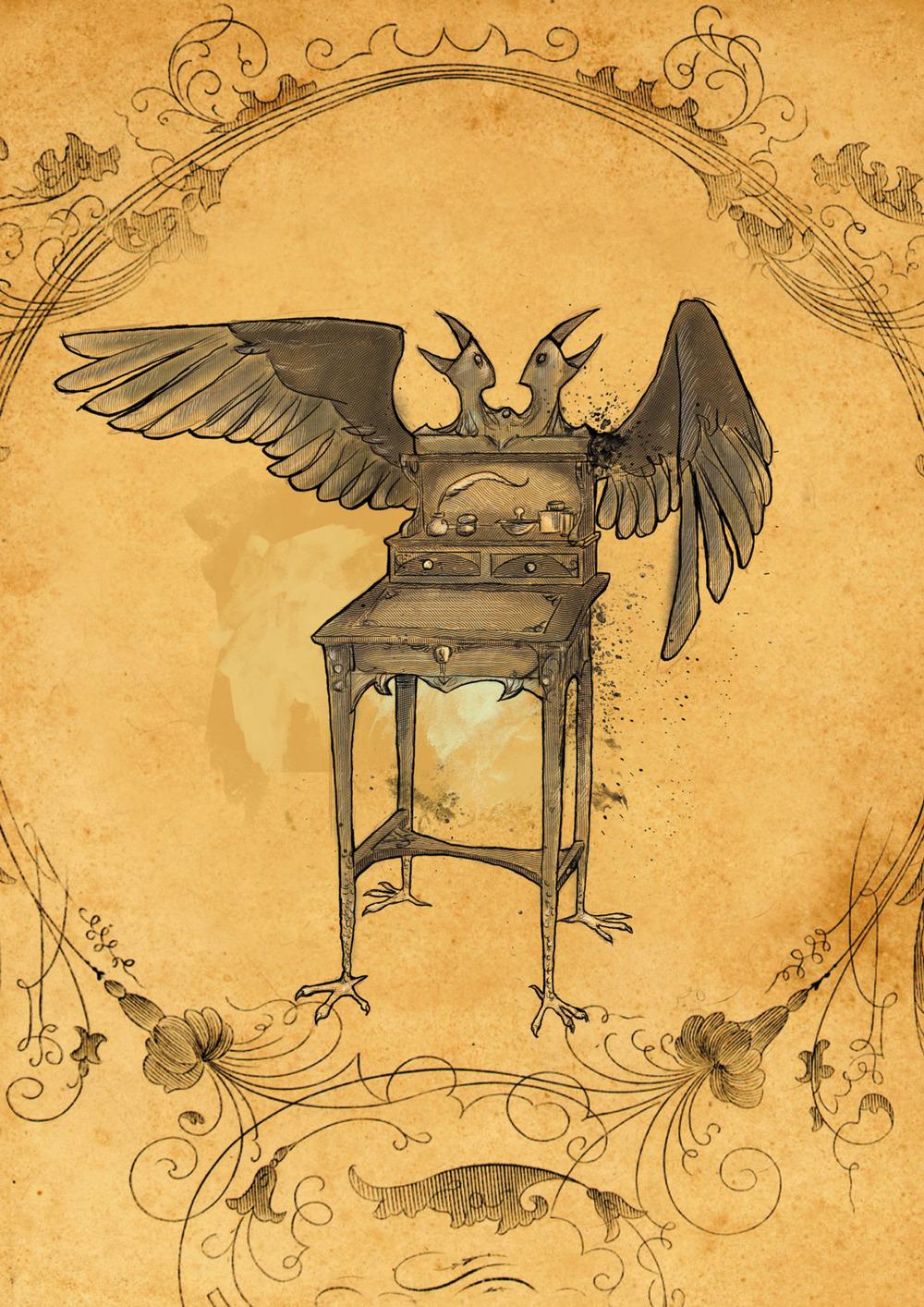 The Raven Writing Desk