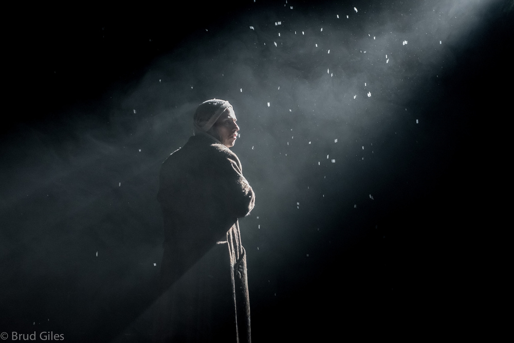 Drew Harper as Ebenezer Scrooge in  A Christmas Carol  (2014). Photographer: Brud Giles