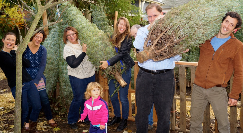 Portland Playhouse staff LOVES our tree lot -- come by, today, and get your tree and wreath!