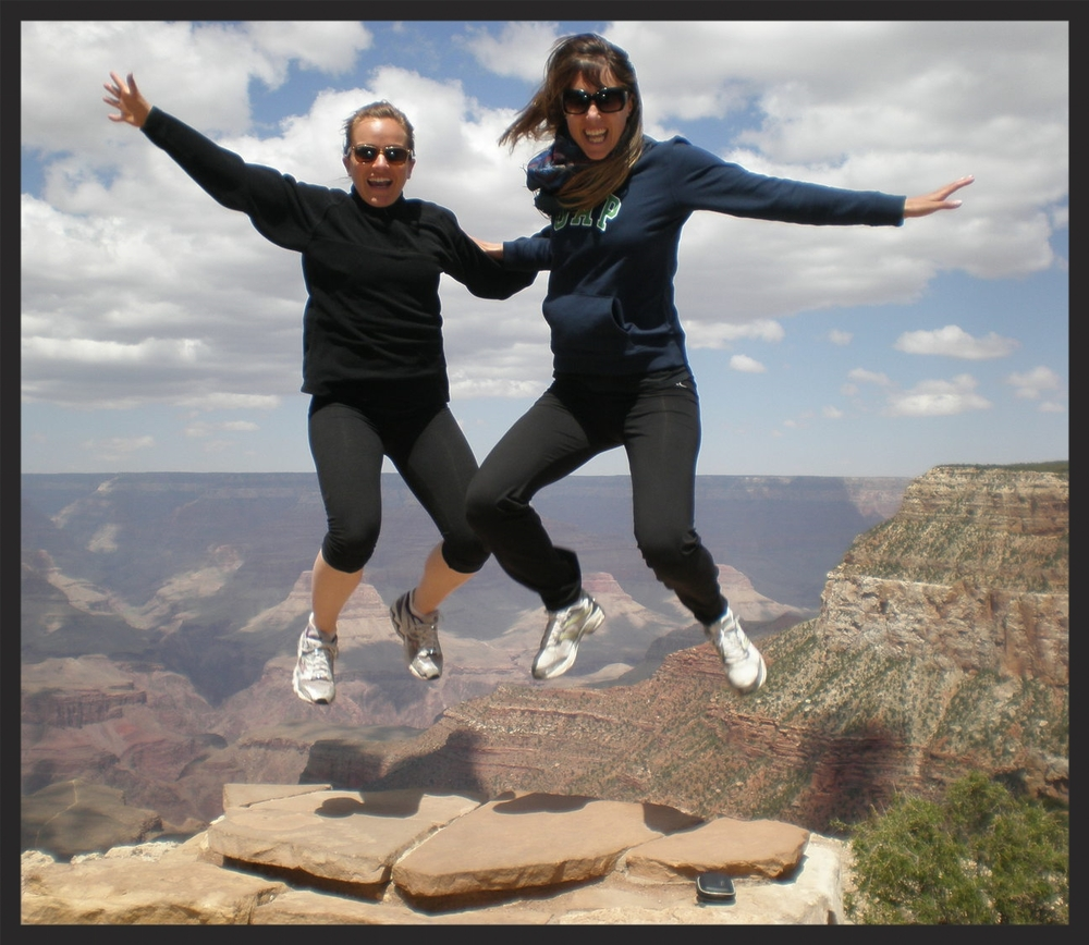 Just letting go!! Marta and me at the Grand Canyon!