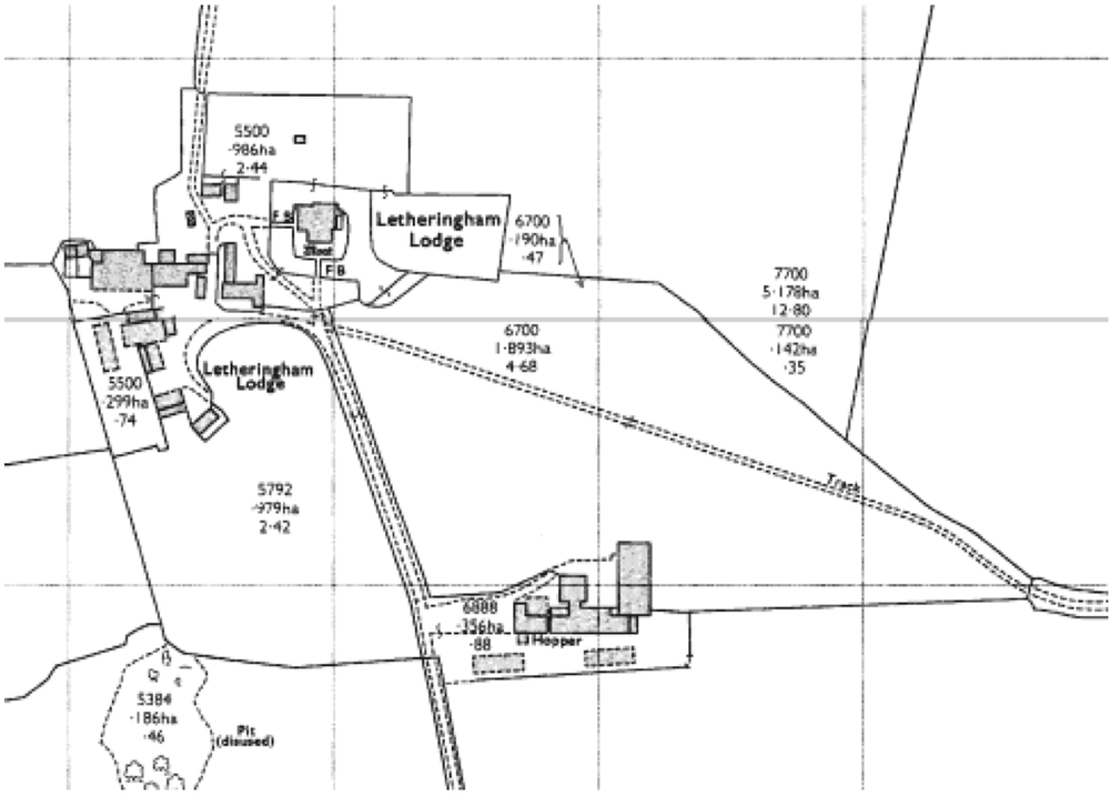 Fig.30 1975 OS map