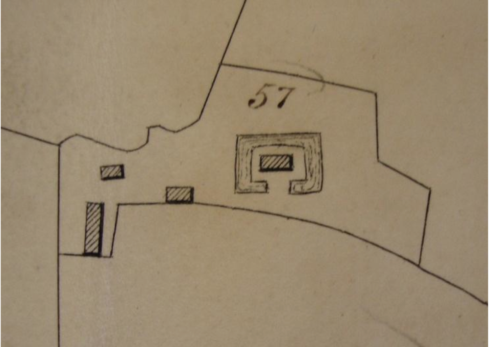 Fig.38 Parish of Letheringham Tithe Map, 1842 (SROI, FDA165/A1/1b)