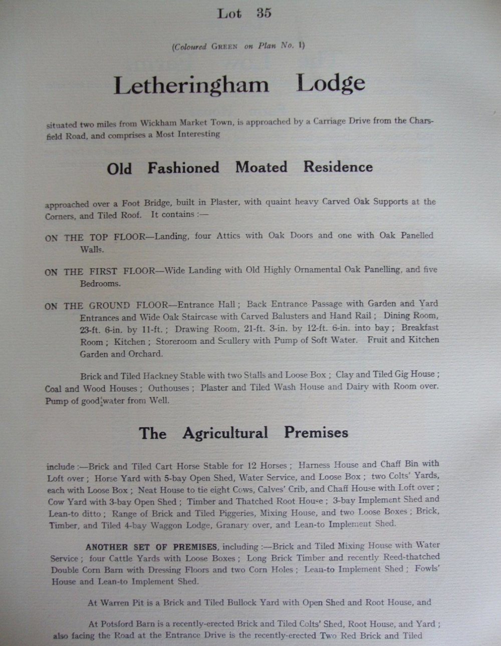 Fig.45 Easton Park Estate sale catalogue,1919 (p.54) (SROI, f SC142/1)