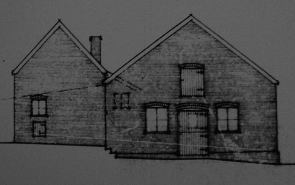 Fig.48  5 and 6 Lodge Farm ('proposed' W elev., bldgs. 5 & 6, C/9605)
