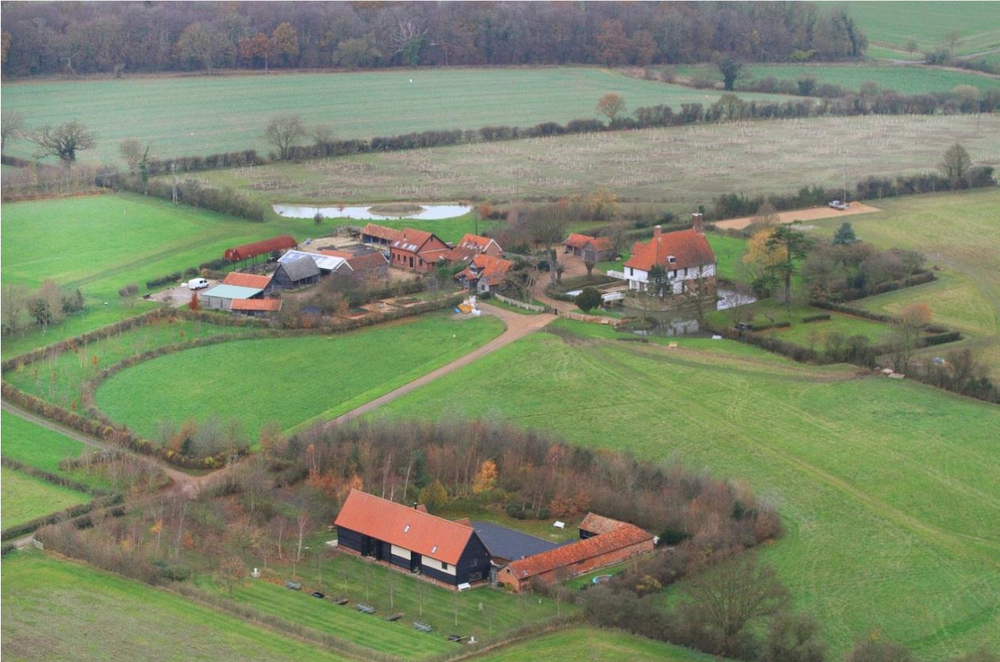 Fig.61 Barn from SE with other farm buildings   to NW of 'Barn Hill'