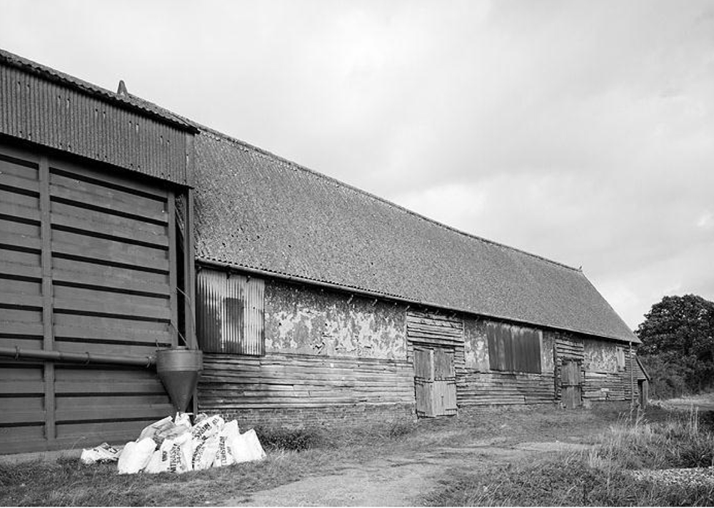 Fig.63 View of south elevation of Barn, 1988 (EH Archive, BB92.29102)