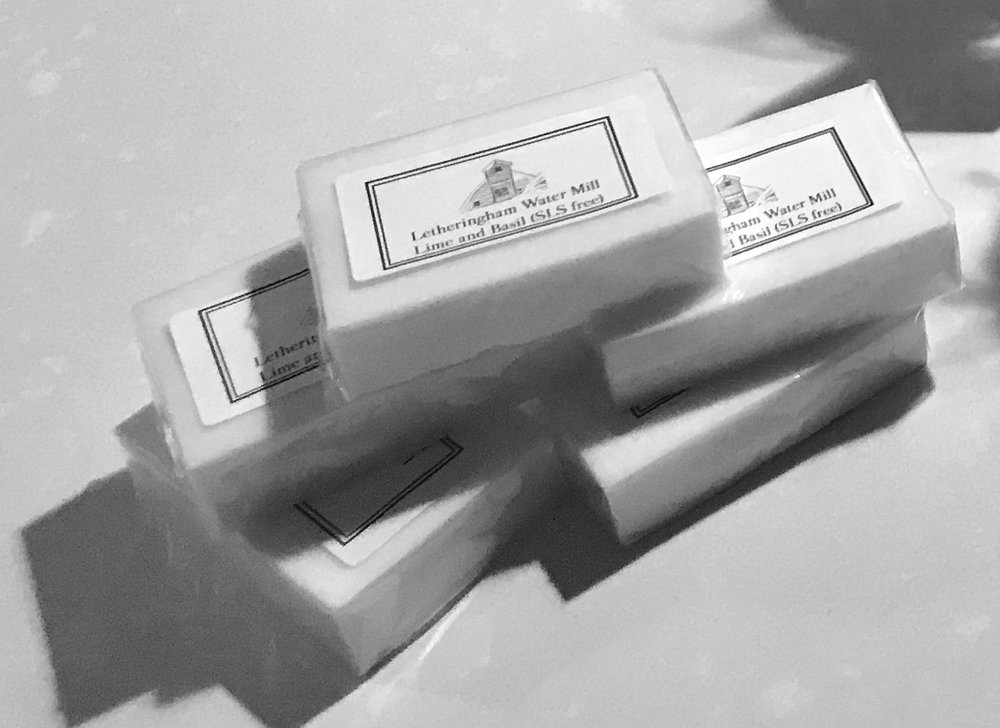 Bespoke soap created for Letheringham Mill's holiday cottages