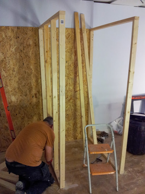 This is Reg, the master carpenter. I think he is building the fitting rooms and not a cage for dancing girls like I asked.