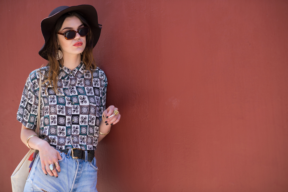 vintage pattern blouse