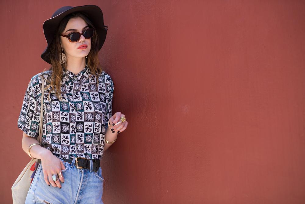 vintage pattern blouse